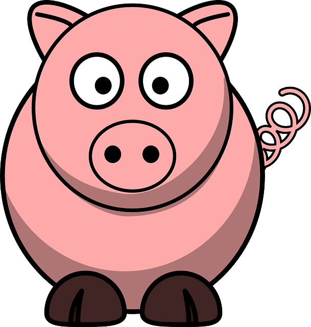 Pig, Animal, Piglet, Pork, Hog, Piggy, Farm, Template