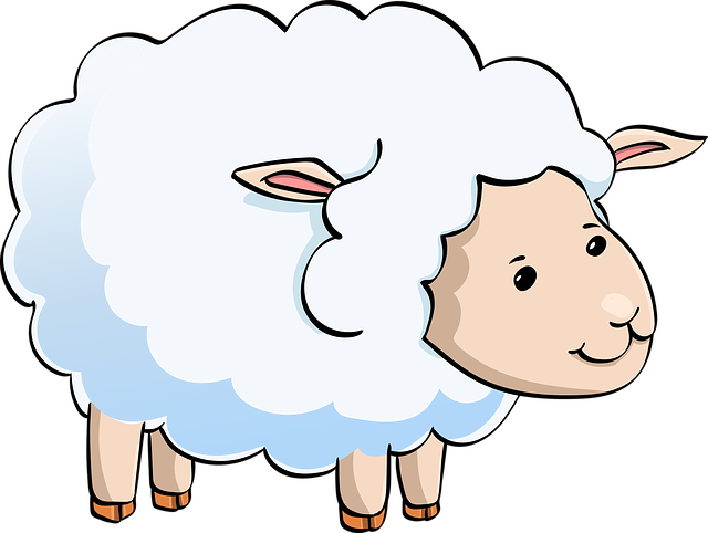Lamb, Sheep, Cute, Animal, Funny, Character, Cartoon