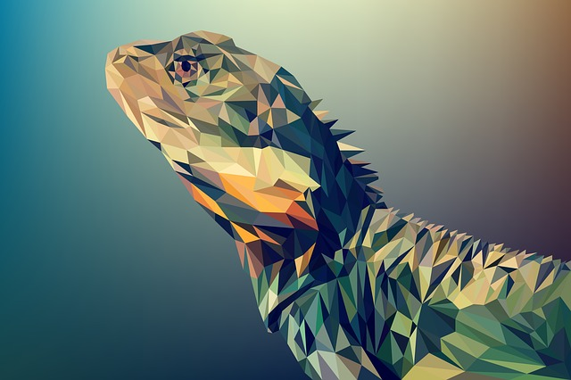 Small Poly, Animal, Vector, Art, Polygon, Illustration