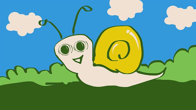 Snail, Animal, Cartoon, Happy, Slow