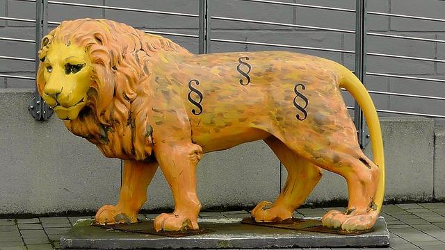 Lion Statue, Yellow, Statue, Animal, Monument, Landmark