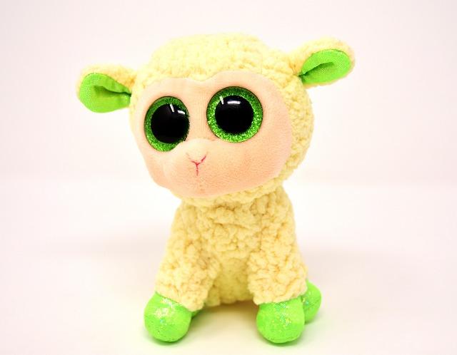 Sheep, Soft Toy, Glitter Eyes, Teddy Bear, Animal World