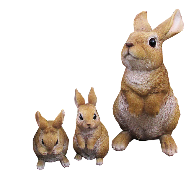 Rabbit, Cute, Animals, Family, Statues, Cut Out