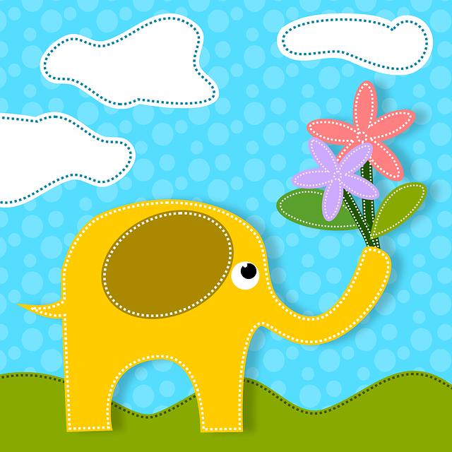 Elephants, Animals, Flowers, Nature