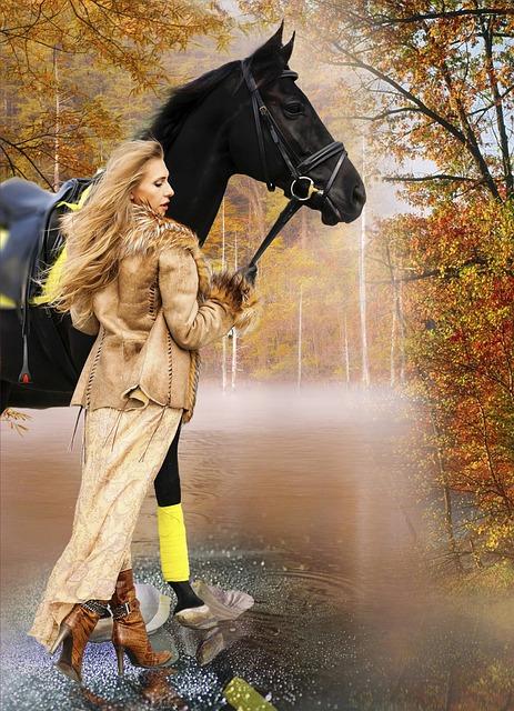 Horse, Girl, Animals, Living Nature