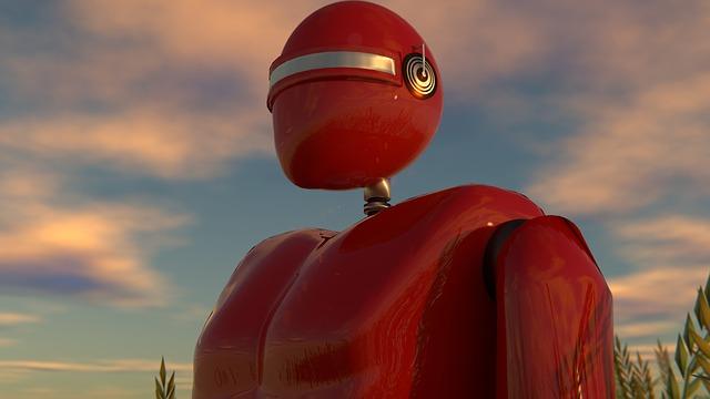 Robot, Landscape, 3d, Animation