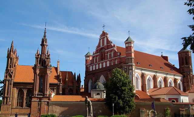 Lithuania, Anne Holy Church, Bricks, Steeples