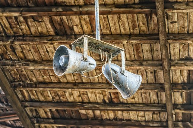 Railway Station, Speakers, Announcement, Lost Places