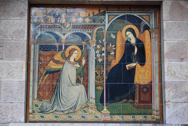 Italy, Assisi, Virgin Mary, Annunciation, Angel