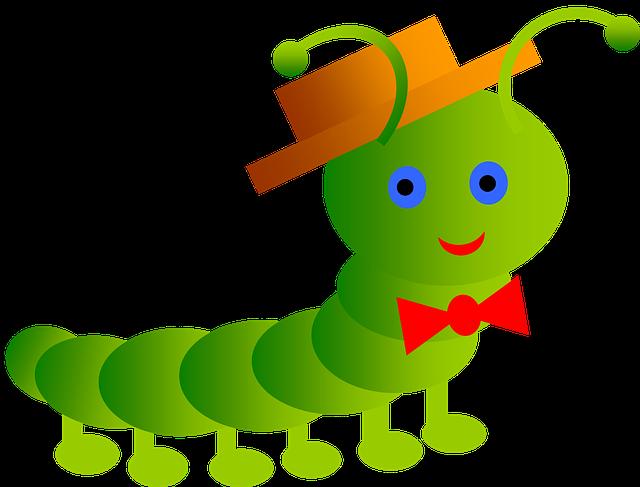 Inchworm, Smile, Worm, Papillon, Stricchetto, Antenna