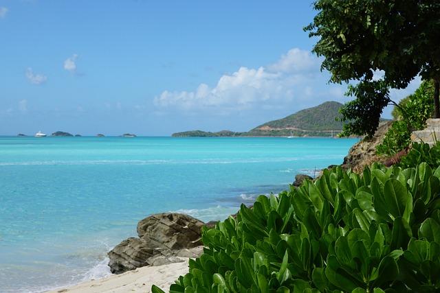 Antigua, Caribbean, Beach, Ocean