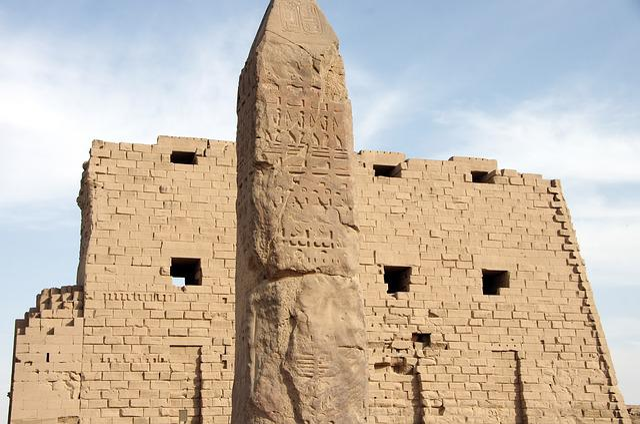 Free photo Hieroglyphs Columns Egypt Roofing Karnak Temple