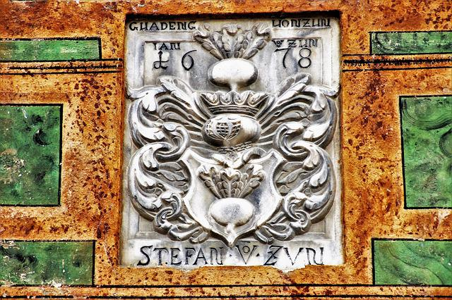 Coat Of Arms, The Art Of, Old, Flowered, Antique