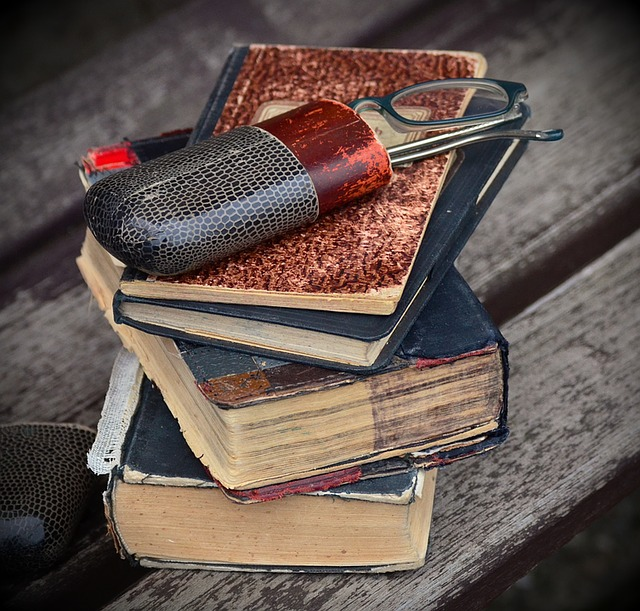 Books, Old, Antique, Glasses, Case, Glasses Case