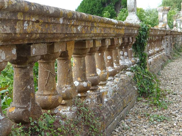 Country House, Balustrade, Handrail, Antique