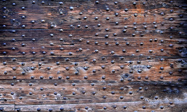 Antique, Historically, Planks, Goal, Door, Rivet