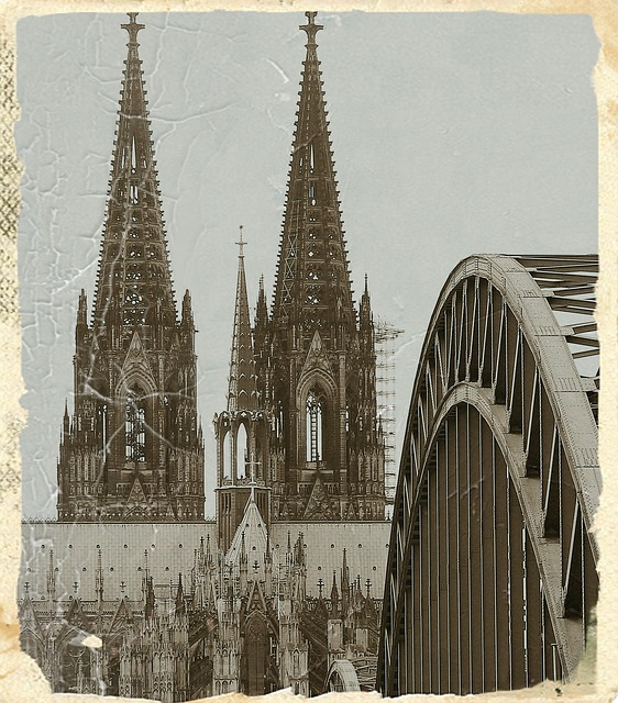 Cologne Cathedral, Antique, Hohenzollern Bridge, Arches