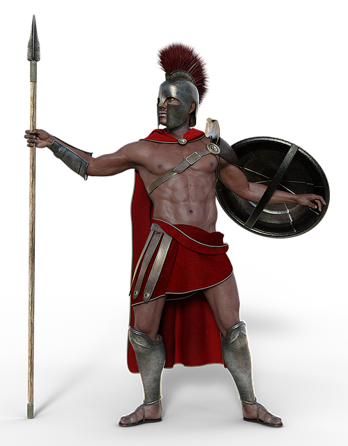 Soldier, Sparta, Antique, Man, Fighter, Warrior, Spear