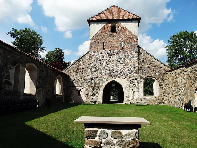Church Ruin, Altar, Antiquities, Björkvik, Sörmland