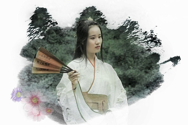 China, Antiquity, Beautiful, Color Mixing, Woman, Asia