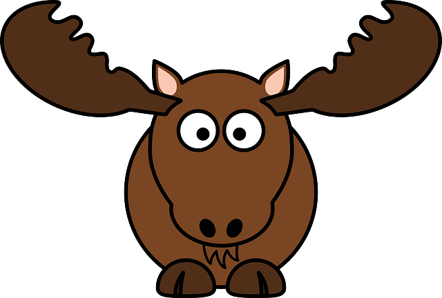 Deer, Mammal, Moose, Antler, Animal, Brown, Funny