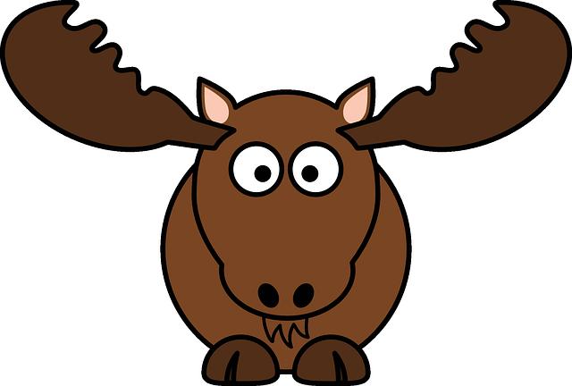 Deer, Mammal, Moose, Antler, Animal, Brown, Funny
