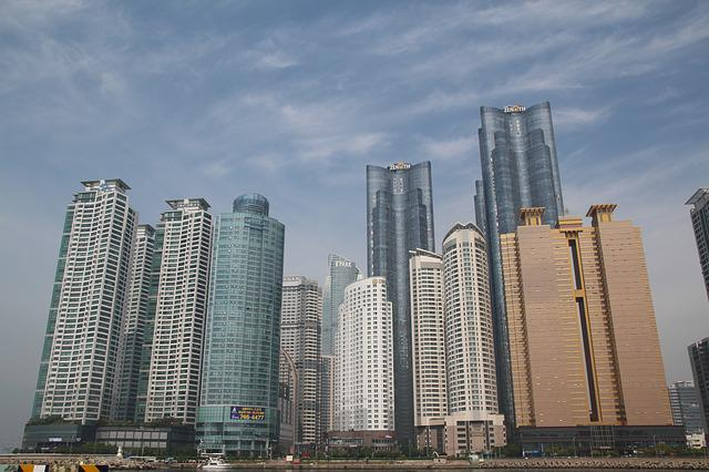 Haeundae Beach, Apartments, City, High Rise Buildings