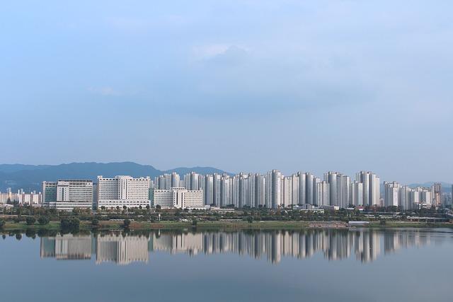 Korea, Han River, Seoul, Relics, Apartments, Landscape