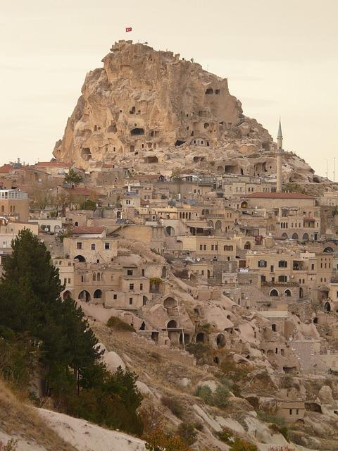 Uchisar, City, Apartments, Tufa, Cappadocia, Nevşehir
