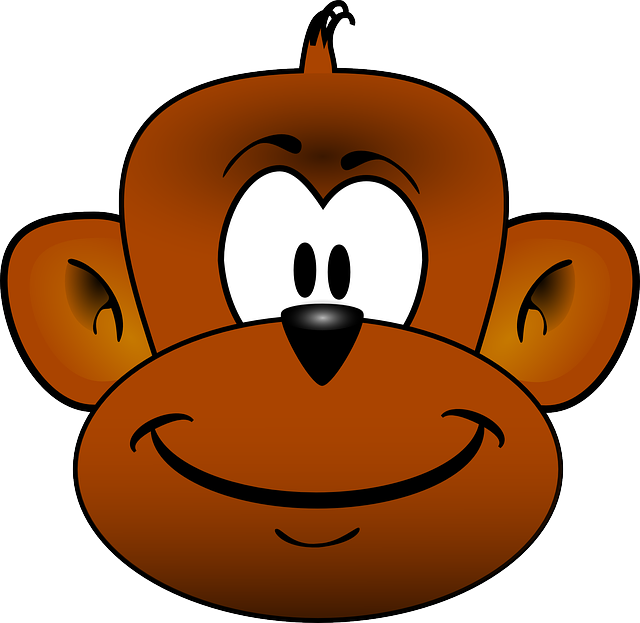 Monkey, Head, Ape, Animal, Chimpanzee, Chimp, Happy