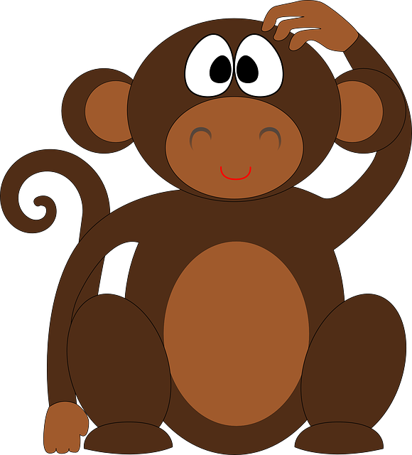 Monkey, Chimp, Ape, Chimpanzee, Animal, Cute, Cartoon