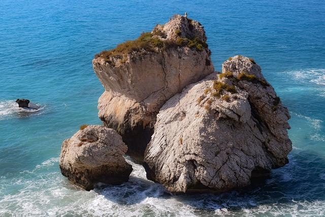 Rock, Stone, Sea, Cyprus, Aphrodite's Rock, Island
