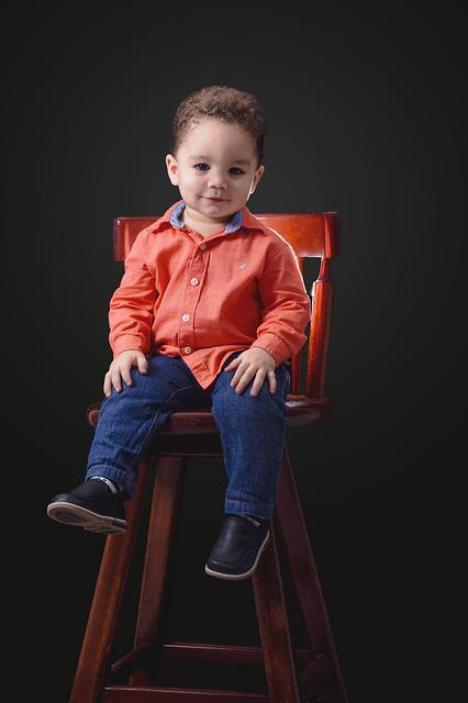 Bebe, Apludiendo, Alegre, Child, Sitting, Small, Smile