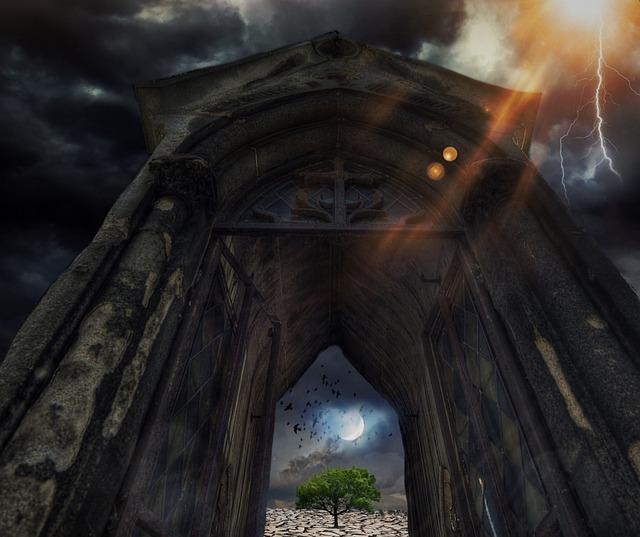 Apocalypse, Mystical, Moon, Sun, Clouds, Thunderstorm
