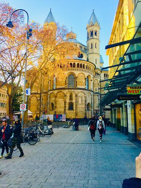 Apostelkirche, Köln, Sonne, Sunset, Green
