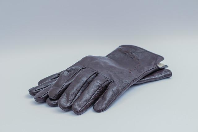 Dark Brown Leather Gloves, Womens, Ladies, Apparel