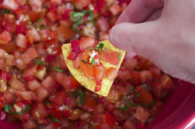 Salsa, Nachos, Mexican, Appetizer, Hot, Snack, Spicy