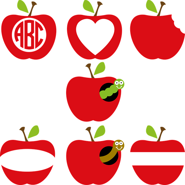 Apple, Apple Frame, Apple Monogram, Teacher, Classroom