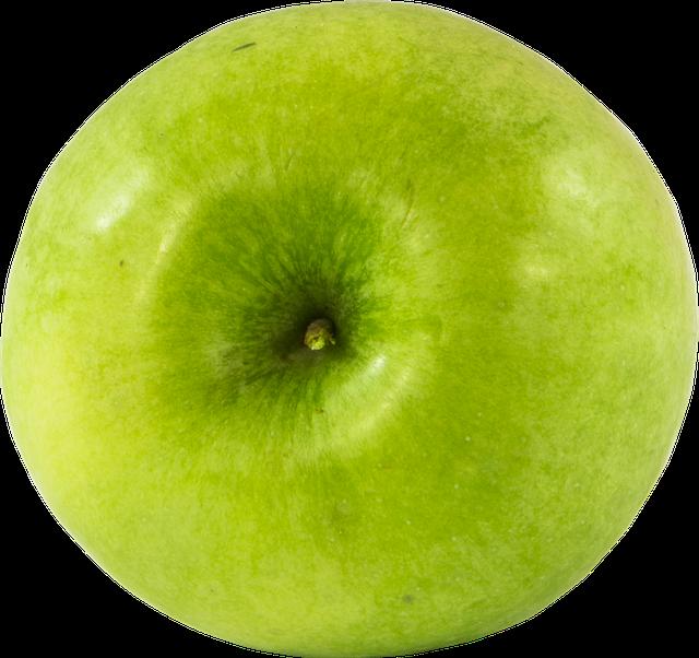 Fruit, Apple, Png, Green, Cutout, Transparent