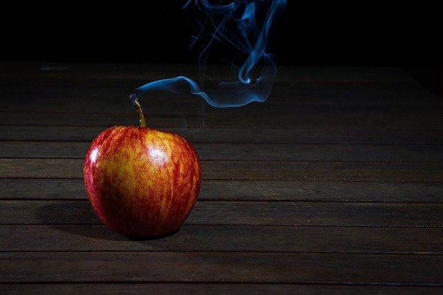Candle, Wax, Apple, Smoke, Fruit, Juicy, Food, Ripe
