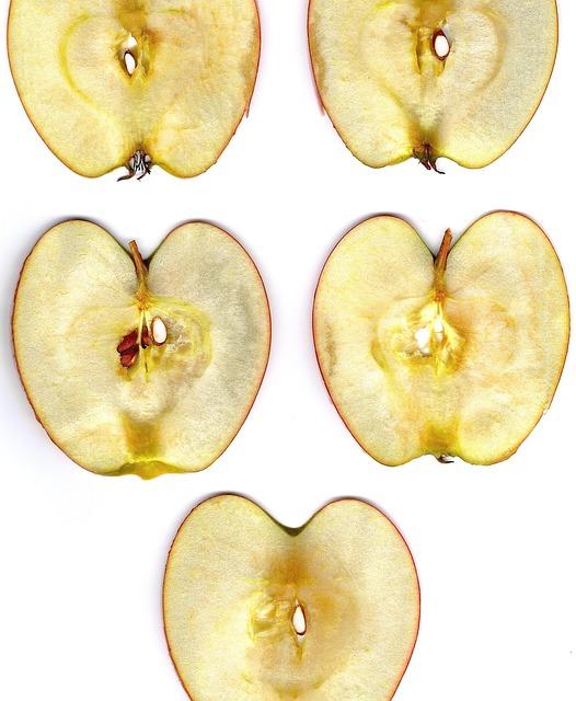 Apple, Apple Slice, Disc, Nuclear, Apple Core