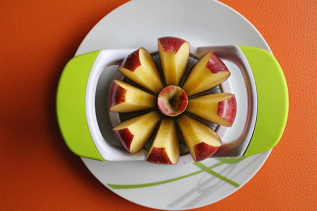 Apple Slices, Plate, Apple Decoration