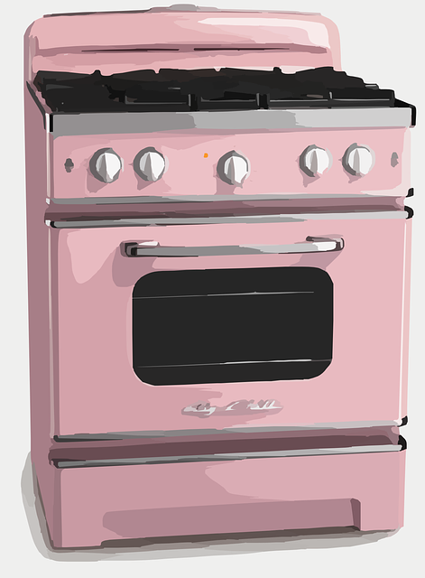 Cooker, Stove, Retro, Pink, Household, Appliance
