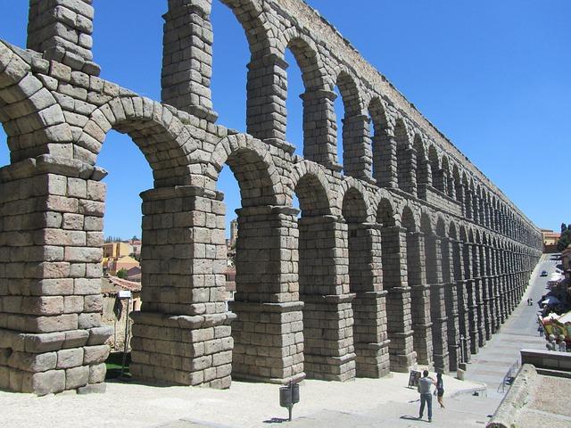Aqueduct, Aqueduct Of Segovia, Spain, Heritage