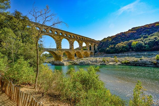 Pont Du Gard, Provence, France, Bridge, Aqueduct, Roman