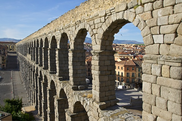 Aqueduct, Segovia, Roman, Spain, Architecture, Arch