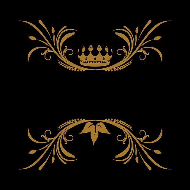 Vector, Arabesque, Floral, King, Crown, Logo