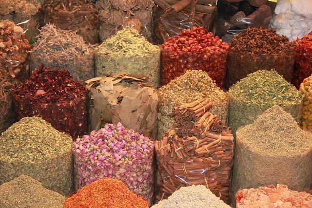 Dubai, Souk, Spices, Mark, Market, Arabian, Exotic