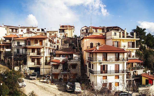 Arahova, Greek Landscape, Greek Mountain Village