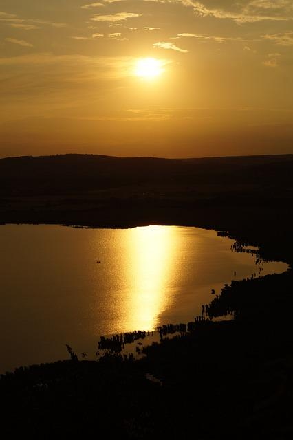 Sunset, Lake Balaton, Lake, Colors, Water, Aranyhíd